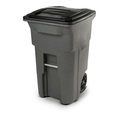 64 gallon trash can toter 64 gal wheeled graystone trash can 25564 r1129 the home depot