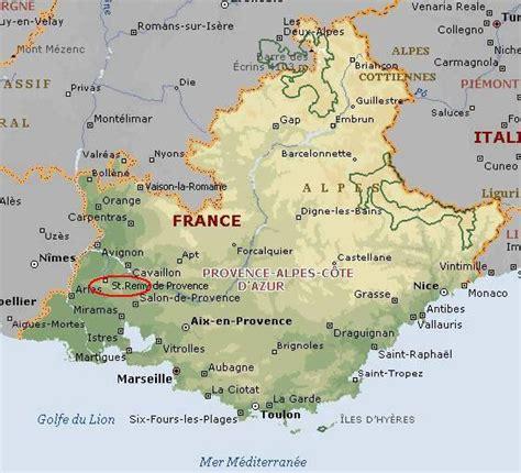 provence map remy de provence map