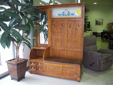 antique hall tree storage bench hall tree storage bench home design ideas