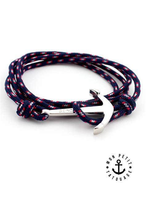 Bracelet ancre marine argent vikings   Réglable   Mon Petit Tatouage Temporaire