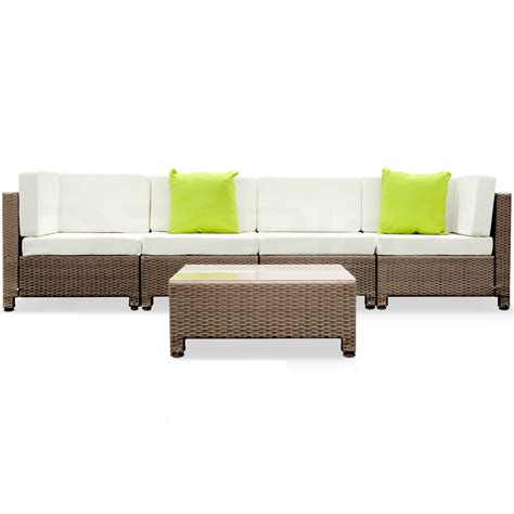 rattan lounge sofa black brown outdoor furniture wicker pe rattan set garden