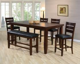 Dining Room Tables With Benches And Chairs by Bardstown Counter Height Dining Room Set Dining Room Sets