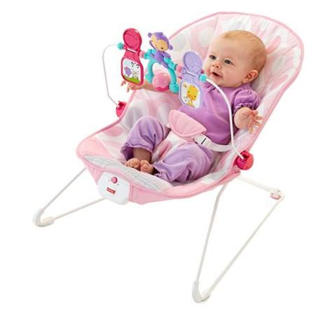 baby jumper seat walmart fisher price baby s bouncer pink ellipse walmart ca