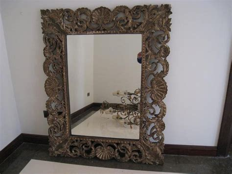 dubizzle dubai home decor accents large wooden carved mirrors 2 nos size 150cm x 120cm