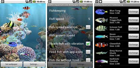 anipet freshwater aquarium live wallpaper apk best aquarium and fish live wallpapers for android