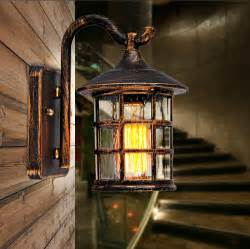 rustic outdoor wall lights aliexpress buy retro rustic iron waterproof outdoor