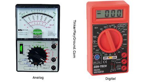 Multimeter Analog Dan Digital electrical engineering pengertian fungsi multimeter