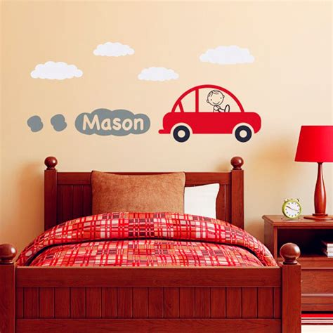 wall decals online kids custom wall vinyl cheap wall car decal with personalized boys name vinyl wall art