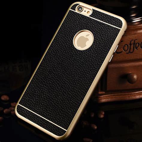 2 In 1 Metal Iphone 6 for iphone 6s 6 plus luxury slim aluminum metal bumper leather back cover ebay