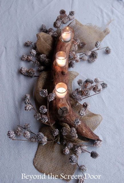 how to make a tree branch centerpiece how to make an easy tree branch candle centerpiece sonya