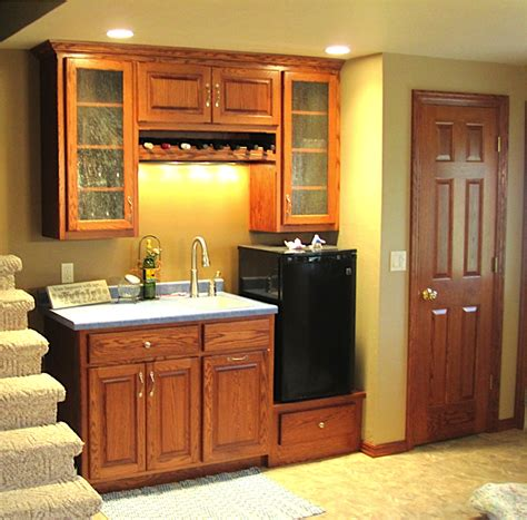 kitchenette cabinets custom bars distinctive cabinets of green bay