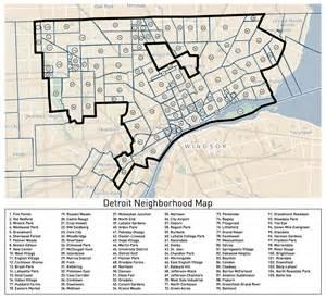 loveland s detroit neighborhoods map detroitography