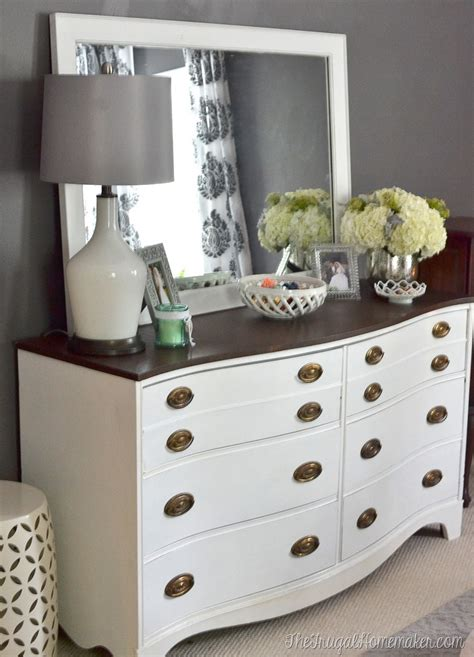 Dresser Decor Ideas by Painted Dresser And Mirror Makeover Master Bedroom Furniture