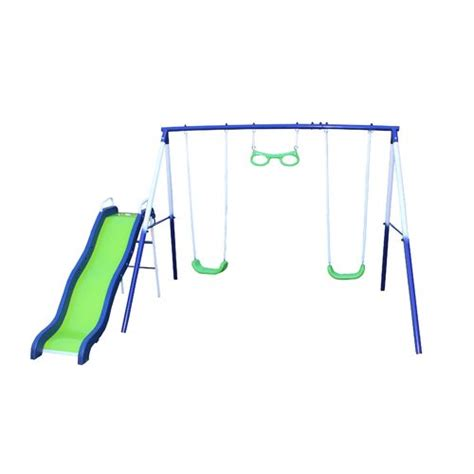 sierra swing sportspower sierra vista metal swing and slide set academy