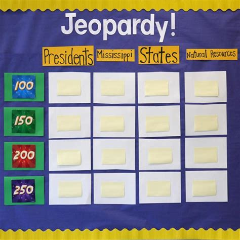 Classroom Jeopardy Make It An Ongoing Game On Bulletin Ideas For Jeopardy Categories