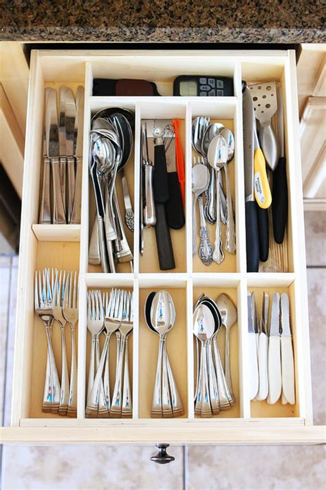 diy drawer organizer nifty diy kitchen utensil drawer organizer easy drawer