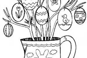 decorare oua paste copii mielut din betisoare