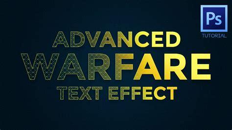 tutorial photoshop font effect indonesia photoshop tutorial advanced warfare text effect youtube