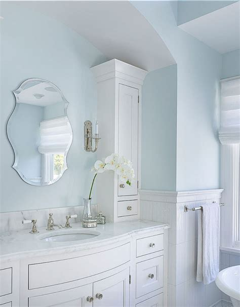 light blue bathroom paint benjamin moore feather gray ooh yes this is the bluest
