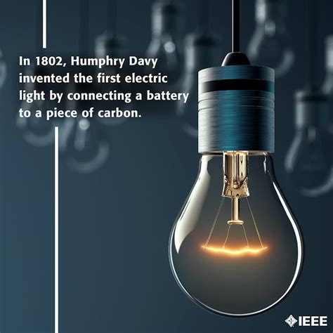 who created the first light humphry davy created the first electric light in 1802