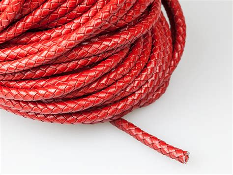 6mm Braided Cord - braided leather cord 6mm leather cord genuine