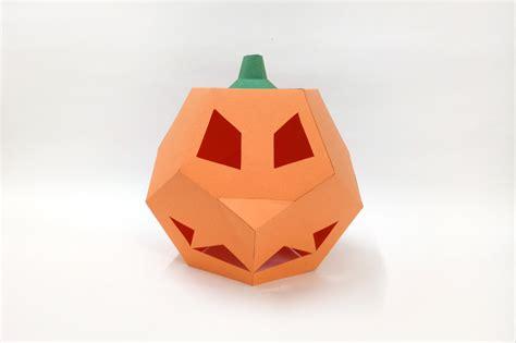 3d Origami Pumpkin - diy pumpkin l 3d papercraft by pap design bundles