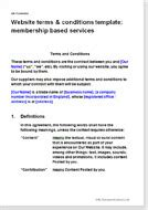 website terms conditions for membership sites t c