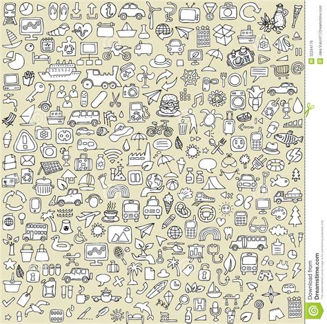 how to use doodle to set up a meeting doodle icons set no 3 stock vector image of ecology