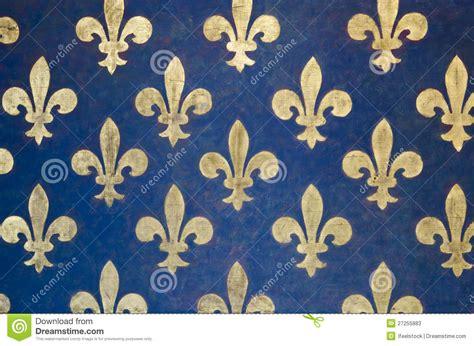Tudor Style Wallpaper papel de parede da flor de lis imagem de stock imagem