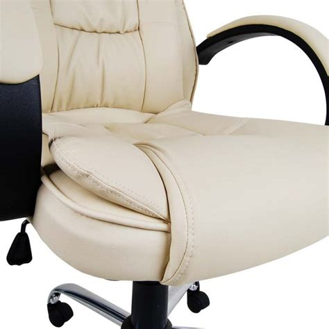beige leather desk chair office computer chair in beige executive pu leather buy