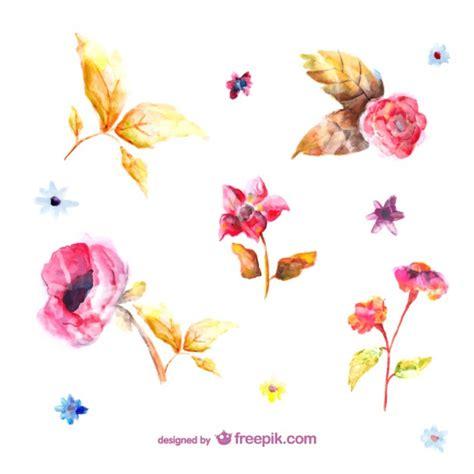 scarica clipart gratis fiori acquerello illustrazioni scaricare vettori gratis