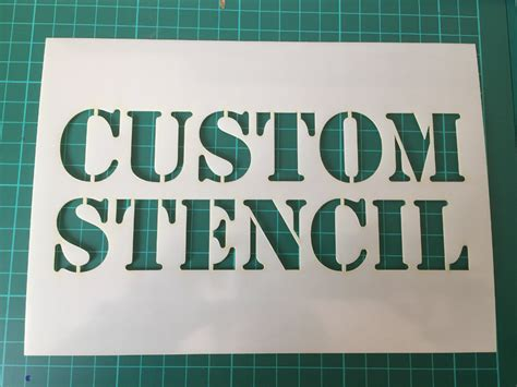 custom stencils in reuasble mylar up to 500 x 700 mm 19 5 x