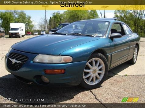 1998 Chrysler Sebring Lxi by Alpine Green Pearl 1998 Chrysler Sebring Lxi Coupe