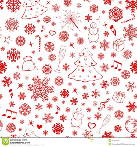 christmas pattern white seamless pattern with snowflakes and christmas symbols