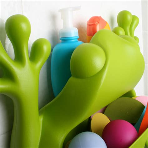 frog bathtub toy holder cool and funny bath toy storage containers 226 frog pod and bug pod from boon
