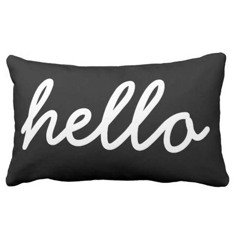 Black And White Pillow by Black And White Modern Hello Throw Pillow Zazzle