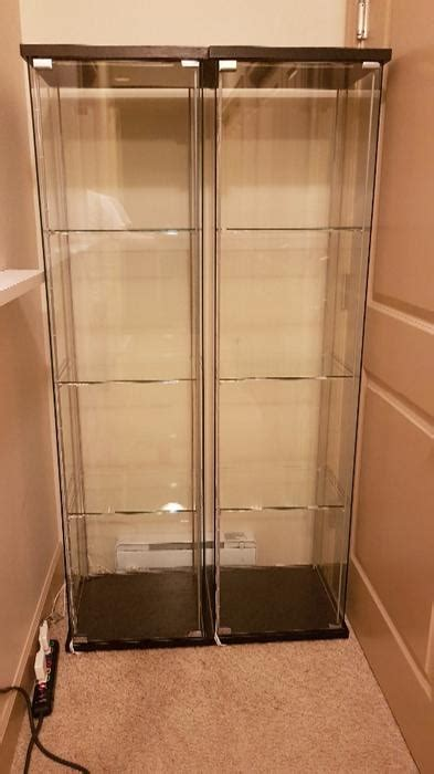 lighted display ikea ikea detolf glass display cases with dioder led lighting