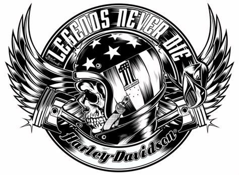 harley davidson helmet skull tattoo design in 2017 real
