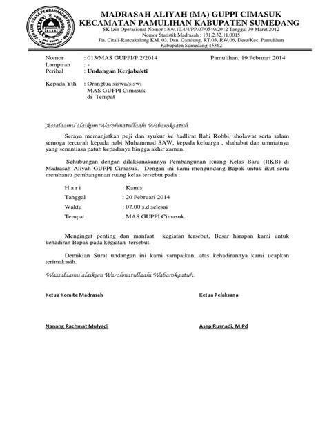 surat undangan kerja bakti docx
