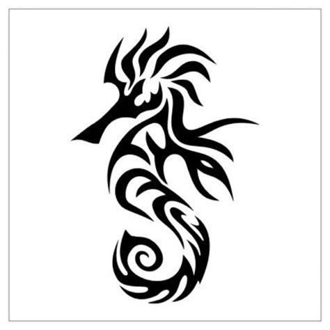 tribal seahorse tattoo seahorse from itattooz