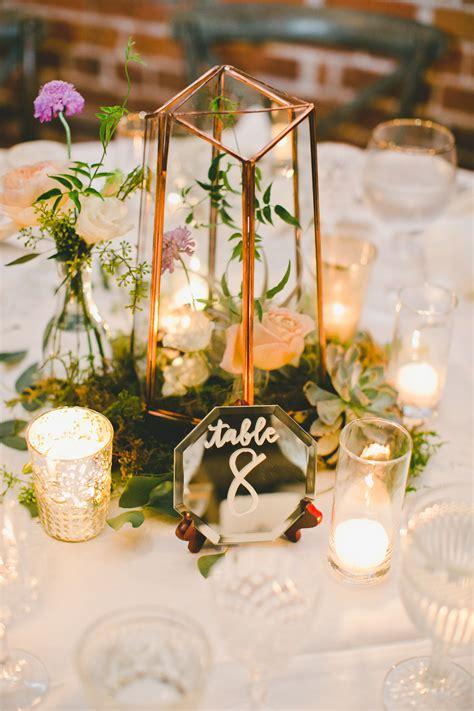 wedding table mirror centerpieces uk gold terrarium centerpiece with mirror table numbers