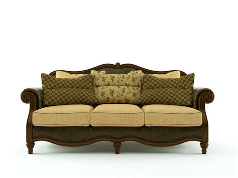Ashley Claremore Antique Sofa 3d Model Skp Cgtrader Com