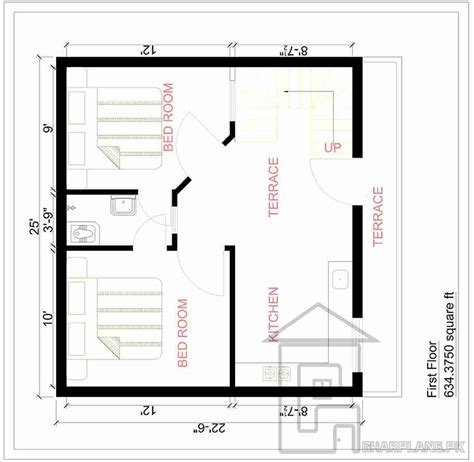 home plan com 2 5 marla house plan design gharplans pk