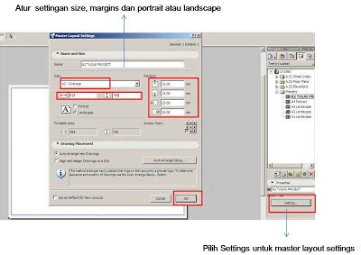 ukuran layout novel settings layout archicad untuk plot gambar part 1