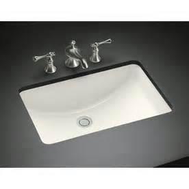 undermount bathroom sinks rectangular shop kohler ladena biscuit undermount rectangular bathroom