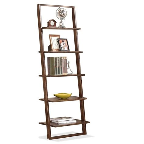 riverside furniture lean living leaning bookcase in smoky driftwood riverside furniture lean living leaning bookcase in