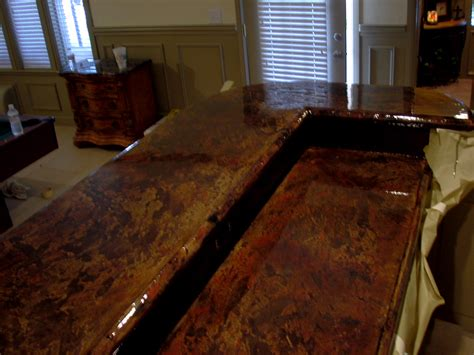 Acid Stain Concrete Countertop by Concrete Countertop Pictures