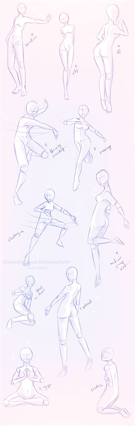 Drawing References Poses by Different Poses References