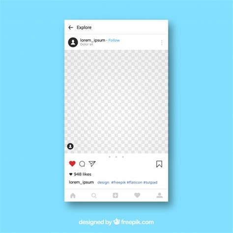 Instagram App Template Vector Free Download Instagram Template