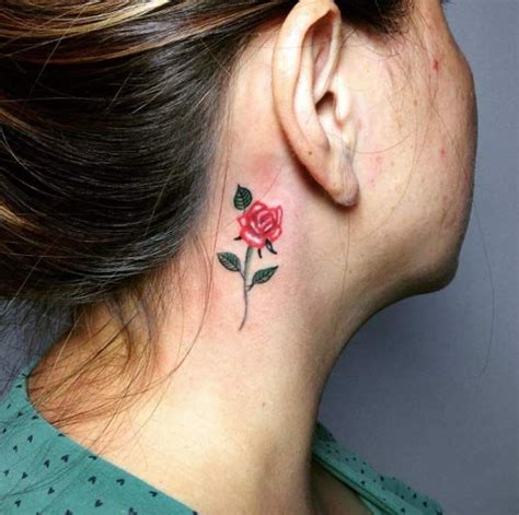 small tattoo behind ear cost best 25 rose tattoo behind ear ideas on pinterest ear